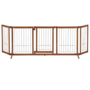 リッチェル ペット用 木製おくだけドア付ゲート L