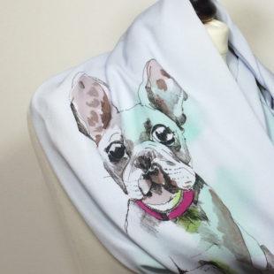 Dog Scarf, Printed French Bulldog