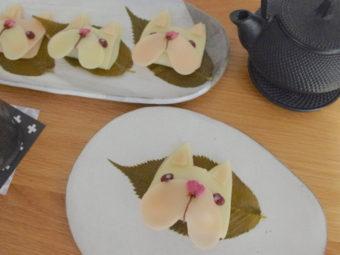 フレンチブルドッグ桜餅
