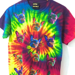 Rainbow Tie Dye French Bulldog T-Shirt