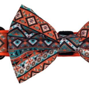 DOG COLLAR & BOW TIE: Montezuma