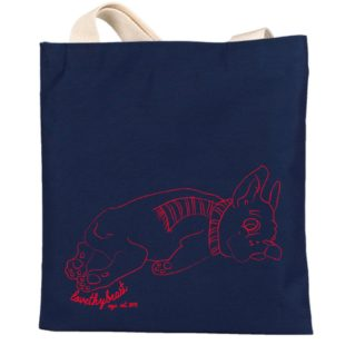 CANVAS SHOPPER TOTE - FRENCHIE