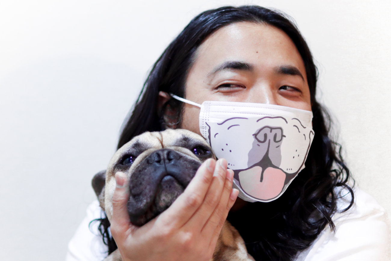 フレンチブルドッグ,マスク,うちでブヒろう